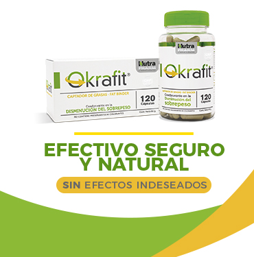 Cruz Verde trae Okrafit, efectivo, seguro y natural.