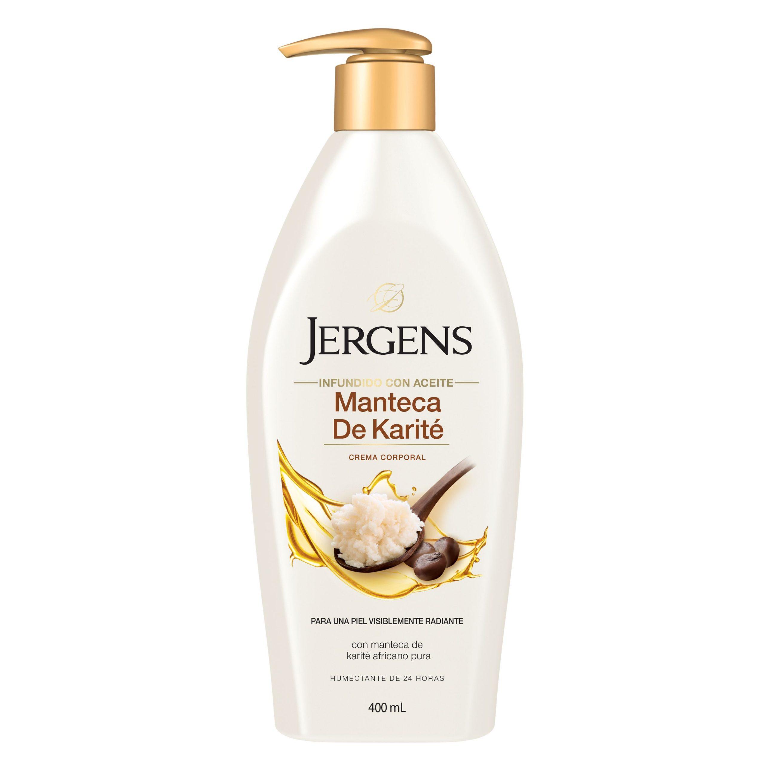 Dale brillo y luminosidad con Jergens® Manteca de Karité