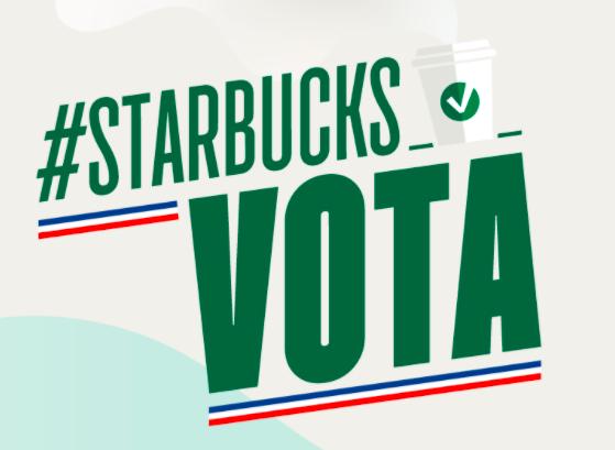 Vota Starbucks estas elecciones